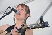 Jenn Rawling & Basho Parks concert at 2012 Tucson Folk Festival.