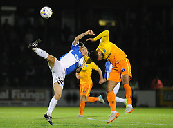 Stuart Sinclair of Bristol Rovers clashes with Aaron Holloway of Wycombe Wanderers - Mandatory byline: Neil Brookman/JMP - 07966 386802 - 06/10/2015 - FOOTBALL - Memorial Stadium - Bristol, England - Bristol Rovers v Wycombe Wanderers - JPT Trophy