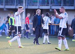 Hearts Head Coach Robbie Neilson. Alloa Athletic 0 v 1 Hearts, Scottish Championship played at Recreation Park, Alloa.
