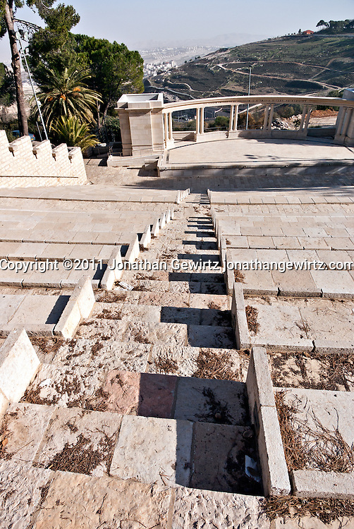 The Rothberg Amphitheater on the Mount Scopus campus of the Hebrew University of Jerusalem. WATERMARKS WILL NOT APPEAR ON PRINTS OR LICENSED IMAGES.