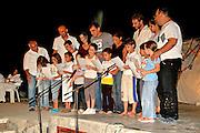 Israel, Jordan Valley, Kibbutz Ashdot Yaacov, Sukkoth celebration The children performing the Hadas (Myrtle) Dance