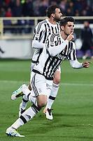 esultanza gol Alvaro Morata 1-2 Goal celebration <br /> Firenze 24-04-2016 Stadio Artemio Franchi Football Calcio Serie A. Fiorentina - Juventus foto Matteo Gribaudi/Image Sport/Insidefoto