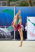 Camilla Ponti from Nervianese team during the Italian Rhythmic Gymnastics Championship in Padova, 25 November 2017.