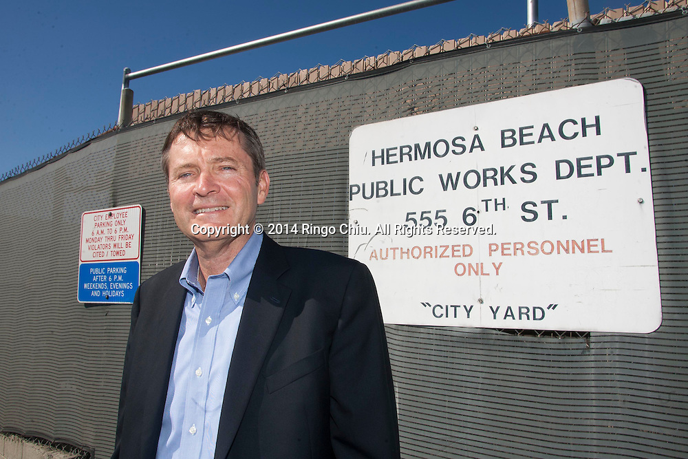 Steve Layton, president of E&B Natural Resources, a Bakersfield oil company seeking to drill in Hermosa Beach.<br /> (Photo by Ringo Chiu/PHOTOFORMULA.com)