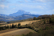 Pic de Bugarach France Corbieres seen from the Aude