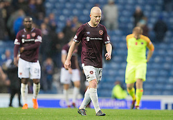 Hearts Steven Naismith appears dejected during the Ladbrokes Scottish Premiership match at Ibrox Stadium, Glasgow.