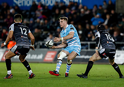 2nd November, Liberty Stadium , Swansea, Wales ; Guinness pro 14's Ospreys Rugby v Glasgow Warriors ;  Stafford McDowall of Glasgow Warriors<br /> <br /> Credit: Simon King/News Images<br /> <br /> Photographer Simon King/Replay Images<br /> <br /> Guinness PRO14 Round 8 - Ospreys v Glasgow Warriors - Friday 2nd November 2018 - Liberty Stadium - Swansea<br /> <br /> World Copyright © Replay Images . All rights reserved. info@replayimages.co.uk - http://replayimages.co.uk