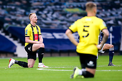 Mark Beck of Harrogate Town takes a knee for Black Lives Matter - Mandatory by-line: Robbie Stephenson/JMP - 16/09/2020 - FOOTBALL - The Hawthorns - West Bromwich, England - West Bromwich Albion v Harrogate Town - Carabao Cup