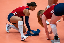 Elena Oglivie of USA in action during United States - Netherlands, FIVB U20 Women's World Championship on July 15, 2021 in Rotterdam