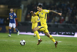 December 13, 2017 - Strasbourg, France - Di Maria Angel  of PSG during the french League Cup match, Round of 16, between Strasbourg and Paris Saint Germain on December 13, 2017 in Strasbourg, France. (Credit Image: © Elyxandro Cegarra/NurPhoto via ZUMA Press)