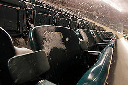Snow covers the seats at Lincoln Financial Field in Philadelphia, Pennsylvania on Sunday December 26th 2010. (Photo By Brian Garfinkel)
