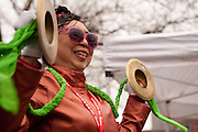 Banking cymbals to ring in the Year of the Dragon. The noise of the drums and cymbals sends bad spirits away.