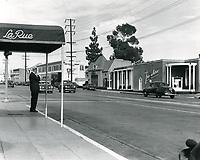 1949 La Rue Restaurant's entrance on Sunset Blvd.