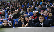 Over 3,000 fans watched during the FA Women's Premier League match between Brighton Ladies and Charlton Athletic WFC at the American Express Community Stadium, Brighton and Hove, England on 6 December 2015.