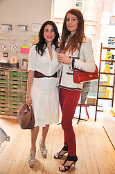 Left to right, LAUREN KEMP and ANGELA DUNN at a ladies lunch in aid of Mothers4Children hosted by Carmelbabyandchild at 259 Pavillion Road, London SW1 on 30th June 2011.