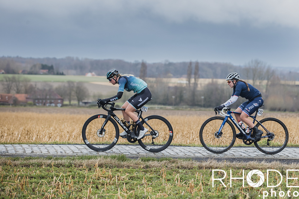 Cathalijne Hoolwerf (NED/NXTG Racing) and Jade Wiel (FRA/FDJ Nouvelle Aquitaine Futuroscope)<br /> <br /> 2nd Nokere Koerse WE (BEL) 2021<br /> UCI Women Elite 1.PRO<br /> One Day Race: Deinze > Nokere 124km