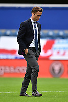 Football - 2019 / 2020 Sky Bet (EFL) Championship - Queens Park Rangers vs. Fulham<br /> <br /> Fulham head coach Scott Parker leaves the pitch at half time with the score 1-1, at Kiyan Prince Foundation Stadium (Loftus Road).<br /> <br /> COLORSPORT/ASHLEY WESTERN