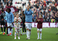 West Ham United's Mark Noble during an end of season lap of honour