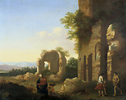 The Departure of Abraham and Isaac'. Cornelis van Poelenburgh (1594 or 1595-1667) Dutch painter and draughtsman.