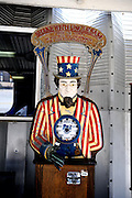 Novelty penny arcade Uncle Sam game. Battleship Missouri Memorial, Pearl Harbour, Hawaii