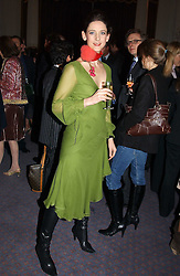 Fashion designer MARIA GRACHVOGEL at jewellers Tiffany's Christmas party held at The Savile Club, 69 Brook Street, London on 14th December 2004.<br />
