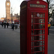 Weather: Red Phone Box and Big Ben,London,UK. by See Li