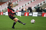Manchester United forward Jane Ross (19) warming up during the FA Women's Super League match between Manchester United Women and Manchester City Women at Leigh Sports Village, Leigh, United Kingdom on 14 November 2020.