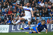 Aaron Wilbraham shoots wide during the EFL Sky Bet League 1 match between Gillingham and Rochdale at the MEMS Priestfield Stadium, Gillingham, England on 30 March 2019.