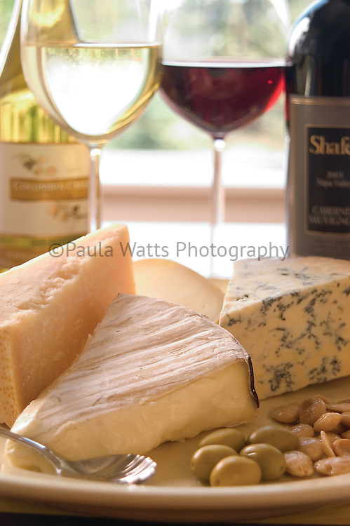 Bright and airy Cheese and wine arrangement