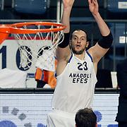 Anadolu Efes's Ermal Kurtoglu during their Turkish Basketball League match Anadolu Efes between Mersin BSB at Sinan Erdem Arena in Istanbul, Turkey, Saturday, January 14, 2012. Photo by TURKPIX
