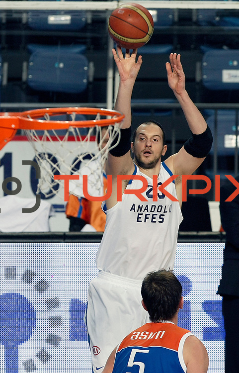Anadolu Efes's Ermal Kurtoglu during their Turkish Basketball League match Anadolu Efes between Mersin BSB at Sinan Erdem Arena in Istanbul, Turkey, Saturday, January 14, 2012. Photo by TURKPIX