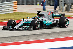 October 20, 2017 - Austin, Texas, U.S - Mercedes driver Lewis Hamilton (44) of Great Britain in action before the Formula 1 United States Grand Prix race at the Circuit of the Americas race track in Austin,Texas. (Credit Image: © Dan Wozniak via ZUMA Wire)