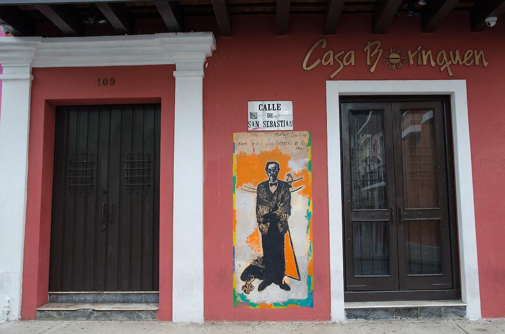 Casa Borinquen, Cale San Sebastina, Mural de Pedro Albizu Campos