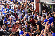 Team Banco di Sardegna Dinamo Sassari, Commando Ultra' Dinamo,<br /> Banco di Sardegna Dinamo Sassari - Happy Casa Brindisi<br /> LBA Serie A Postemobile 2018-2019 Playoff Quarti di Finale Gara 1<br /> Sassari, 18/05/2019<br /> Foto L.Canu / Ciamillo-Castoria