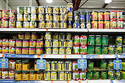 Interior of a supermarket, photographed in Israel