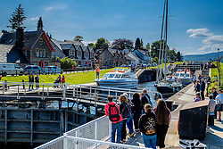 Vessels negotiating the locks on the Caledonian Canal at Fort Augustus, Scotland<br /> <br /> (c) Andrew Wilson | Edinburgh Elite media