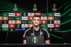 Žiga Škoflek of NS Mura during press conference after football match between NS Mura and Vitesse (NED) in 1st round of UEFA Europa Conference League 2021/22, on 16 of September, 2021 in Ljudski Vrt, Maribor, Slovenia. Photo by Blaž Weindorfer / Sportida