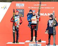 Ski , Fis Cross - Country World Cup , Presented by Viessmann<br /> Lillehammer<br /> 04.12.2016<br /> Foto: Dagfinn Limoseth , Digitalsport<br /> Johannes Hoesflot Klaebo , NOR , Martin Johnsrud Sundby , NOR , Matti Heikkinen , FIN