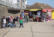 Seaside cafe at Walton on the Naze, Essex, England