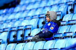 A general view of a Leicester City fan in the stands prior to the Premier League match at the King Power Stadium, Leicester.