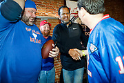 SHOT 12/10/17 1:08:18 PM - Former Buffalo Bills wide receiver and Hall of Fame player Andre Reed signs autographs and meets with fans at LoDo's Bar and Grill in Denver, Co. as the Buffalo Bills played the Indianapolis Colts that Sunday. Reed played wide receiver in the National Football League for 16 seasons, 15 with the Buffalo Bills and one with the Washington Redskins. (Photo by Marc Piscotty / © 2017)