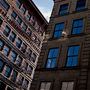 Brownstone in Soho District nicely lit.