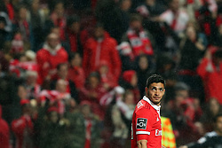 February 3, 2018 - Lisbon, Portugal - Benfica's Mexican forward Raul Jimenez looks on after scoring during the Portuguese League football match SL Benfica vs Rio Ave FC at the Luz stadium in Lisbon on February 3, 2018. (Credit Image: © Pedro Fiuza/NurPhoto via ZUMA Press)