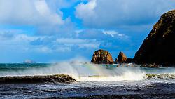 Sea stacks on the beach near Aird Uig, Isle of Lewis, Outer Hebrides, Scotland<br /> <br /> (c) Andrew Wilson | Edinburgh Elite media