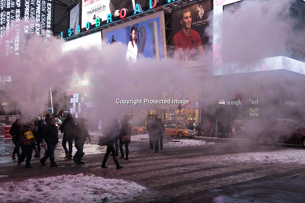 New York, Manhattan under the snow. Manhattan sous la neige