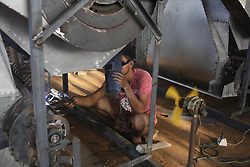 April 30, 2019 - Naogaon, Bangladesh - A labor work in a welding workshop without any safety equipment before the May Day at Dhamoirhat upazila of Naogaon district. (Credit Image: © MD Mehedi Hasan/ZUMA Wire)