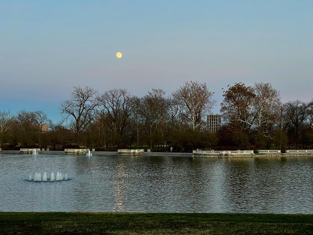 Forest Park's Grand Basin in St. Louis, Missouri on November 28, 2020.