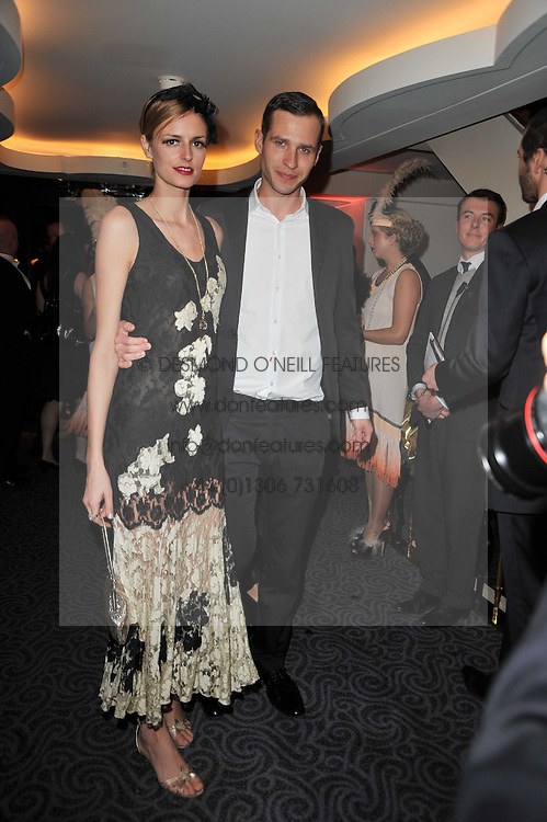 JACQUETTA WHEELER and ALBAN DE PURY at Quintessentially's 10th birthday party held at The Savoy Hotel, London on 13th December 2010.