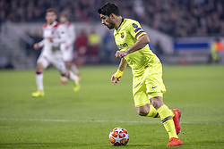 February 19, 2019 - Lyon, França - LYON, LY - 19.02.2019: LYON X BARCELONA - Luis Suárez from Barcelona during the match between Lyon and Barcelona held at Parc Olympique Lyonnais in Lyon. The match is valid for the octaves of the Champions League 2018/2019. (Credit Image: © Richard Callis/Fotoarena via ZUMA Press)
