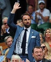 Tennis - 2019 Wimbledon Championships - Week One, Saturday (Day Six)<br /> <br /> Mens Singles, 3rd Round <br /> Sports Men and Women in the Royal Box on Centre Court<br /> <br /> England Manager Gareth Southgate<br /> <br /> COLORSPORT/ANDREW COWIE
